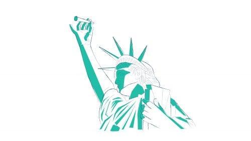Estatua de la Libertad con Marihuana - Imagen por Ilona Szentivanyi. Todos los derechos reservados a El Planteo y Benzinga.