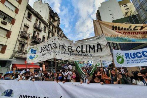 Movilización Crisis Climática jóvenes por el clima