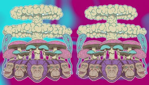 mono simio drogado dopado teoría